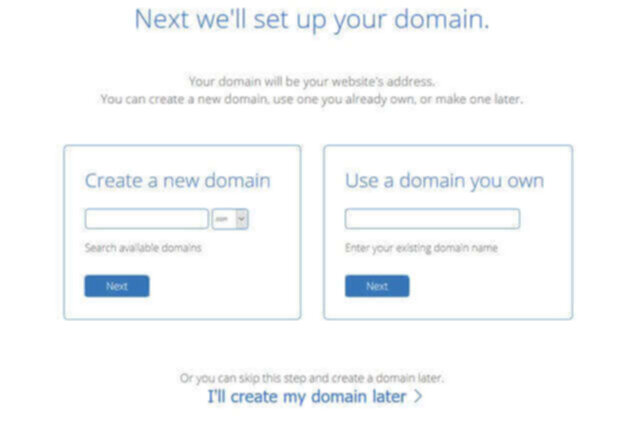 set up domain for new blog