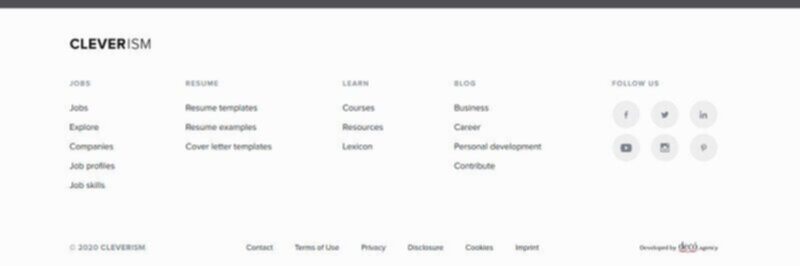 Blog footer example