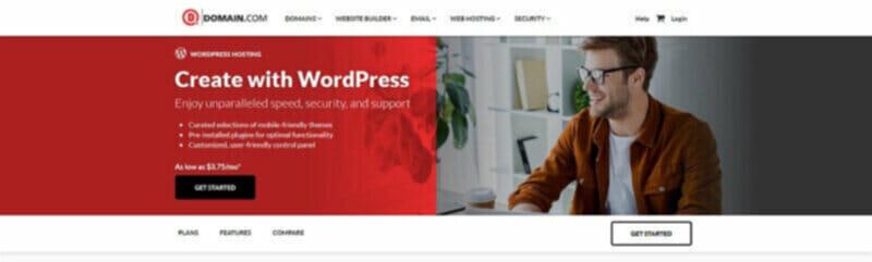 Domain.com Web Hosting including online marketing services