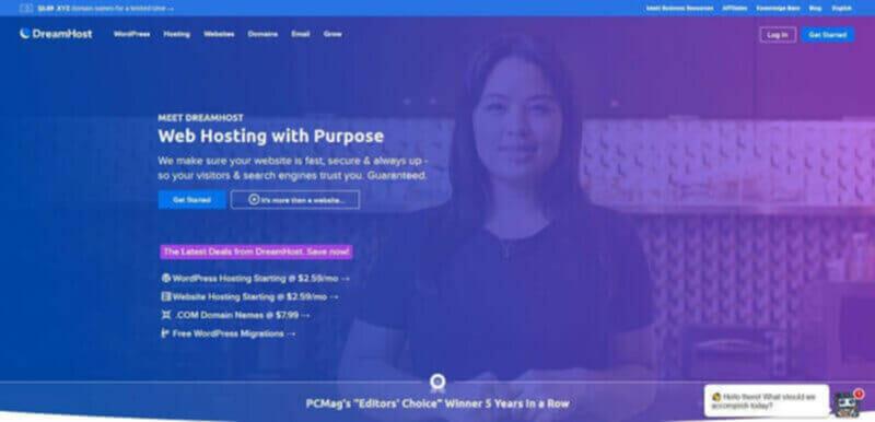 Dreamhost cheapest shared hosting for developers
