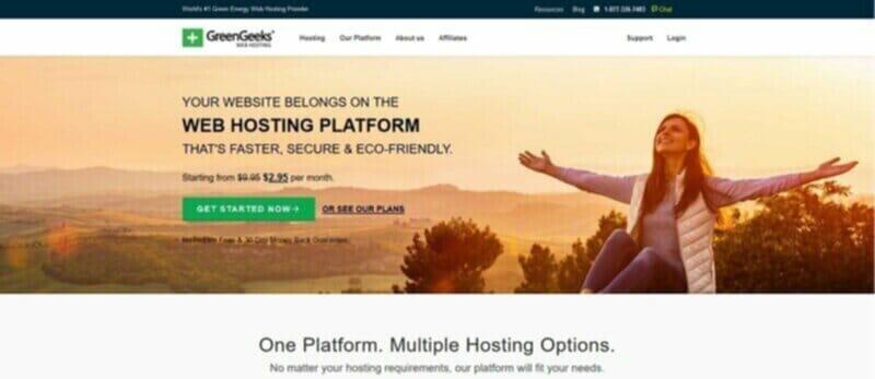 GreenGeeks eco-friendly web hosting service