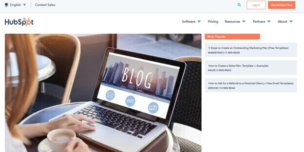 Blog example hubspot