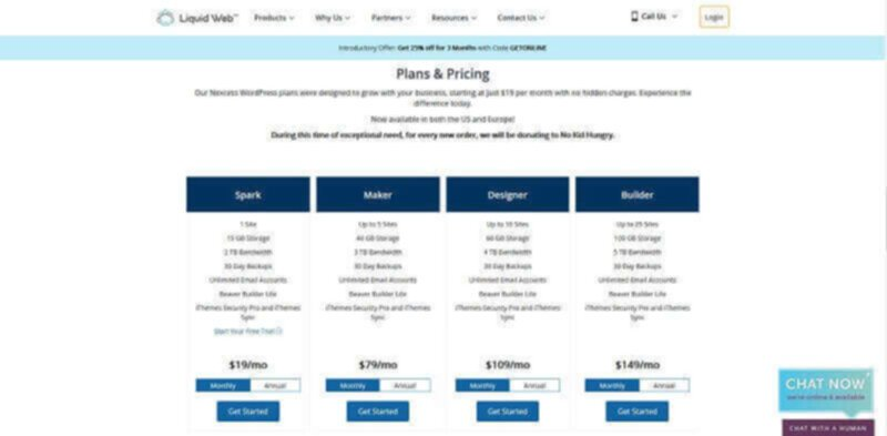 Liquid Web - Pricing and hosting plans