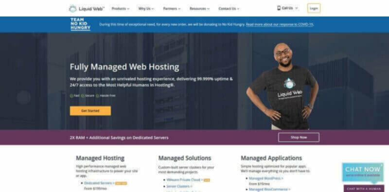 Liquid Web cheapest web hosting for online businesses