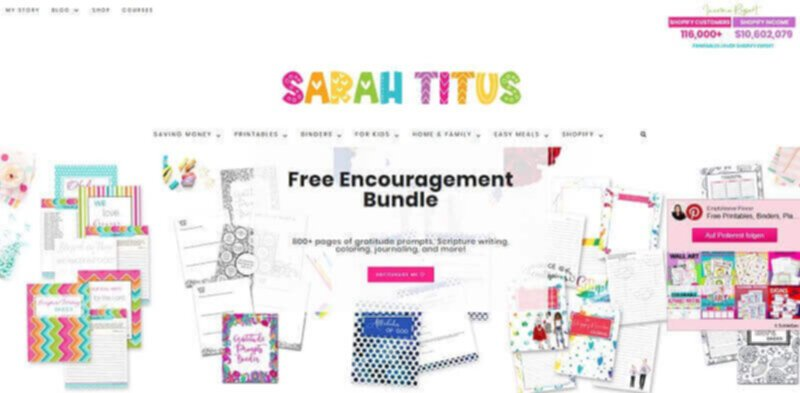 Sarah Titus highest paid blogger