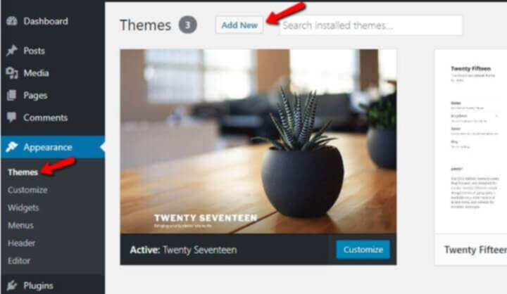 Add new WP theme for blog