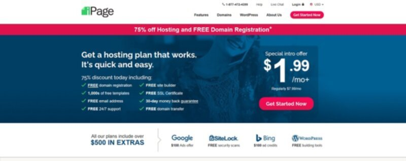 iPage affordable shared hosting
