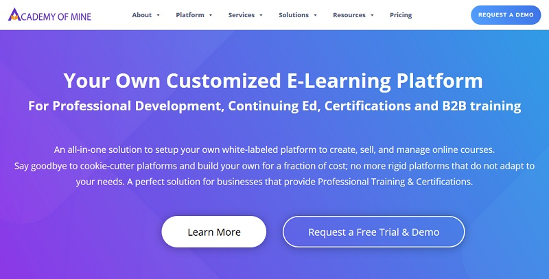 Academy of Mine e-learning platform