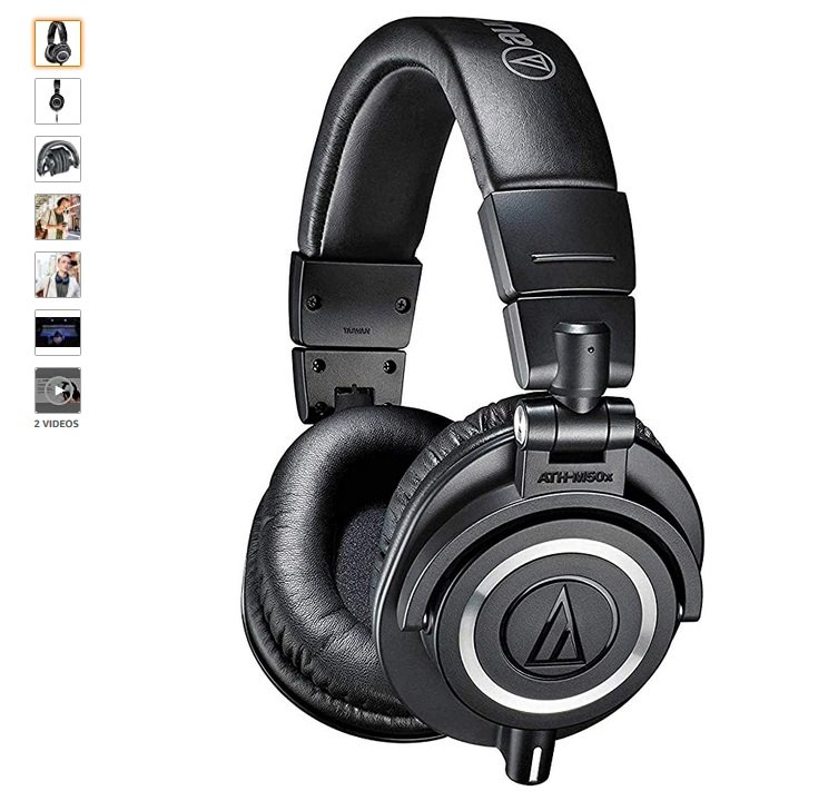 Audio-Technica ATH-M50x best headphones for podcasting