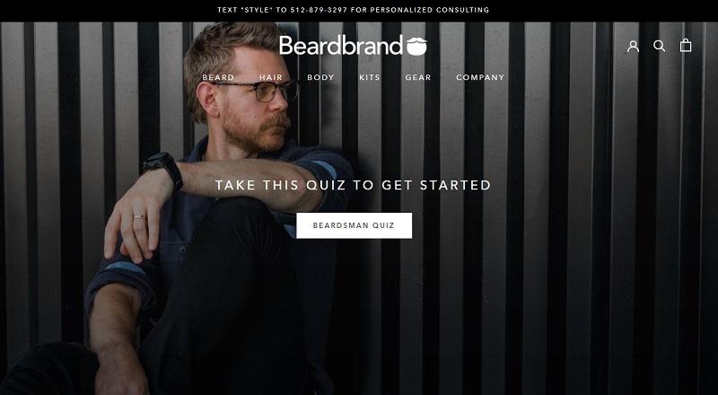 BeardBrand making money with ecommerce and blogging