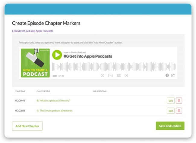 Buzzsprout - Create Episode Chapter Markers