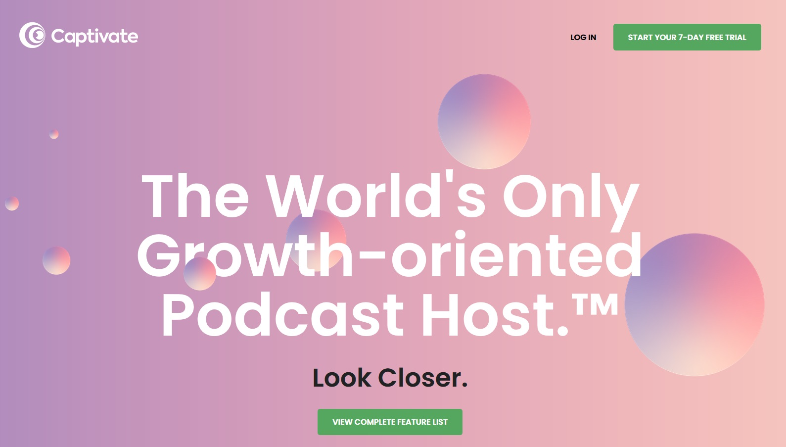 Captivate Growth-Oriented Podcast Host