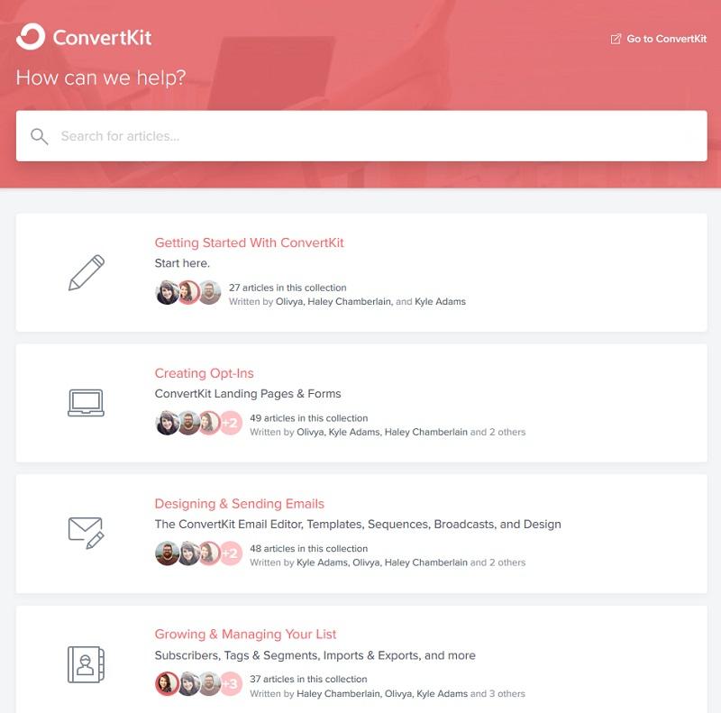 Convertkit - Knowledgebase