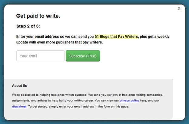 Freedom with writing - Get paid to write
