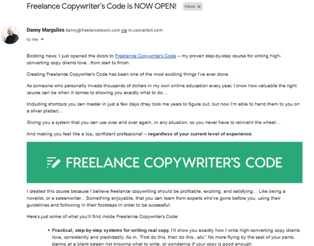 Freelance To Win - email