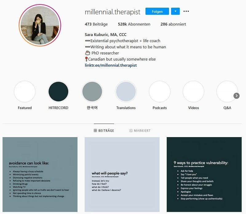 Instagram - Millennial.therapist