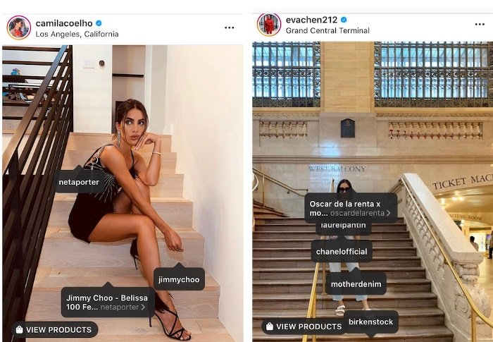 Instagram - Shoppable influencers option