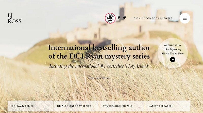 LJ Ross - International bestselling author of the DCI Ryan mystery series