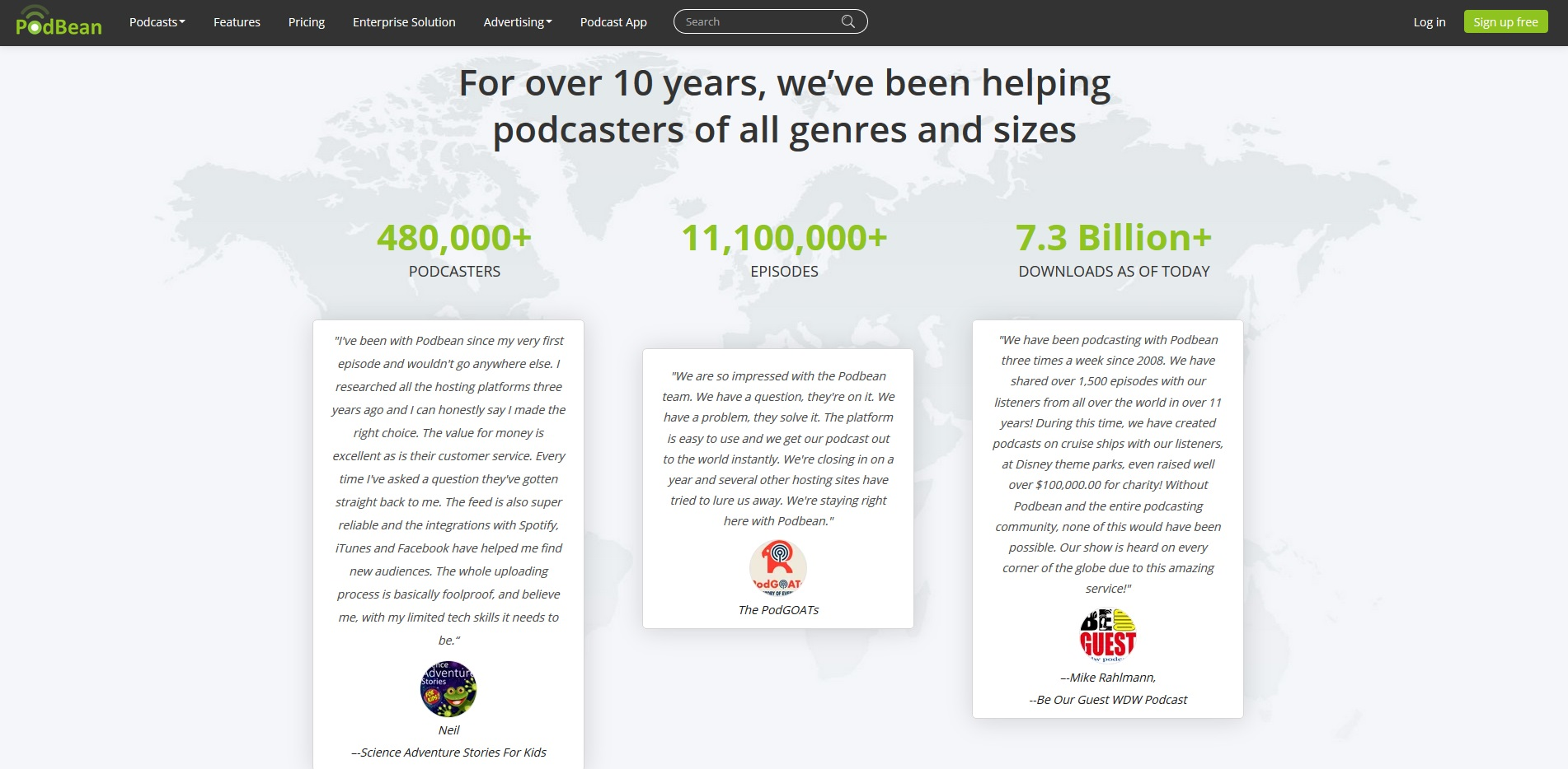 PodBean - helping podcasters of all genres and sizes