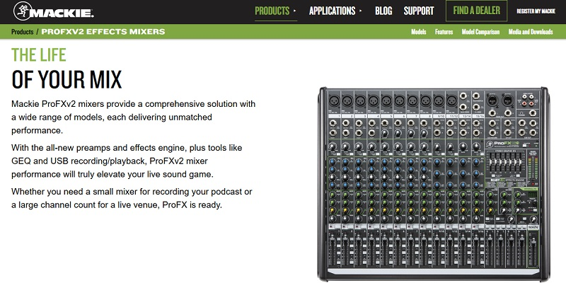 ProFXv2 Effects Mixers for podcasters