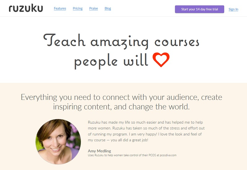 Ruzuku teaching online courses