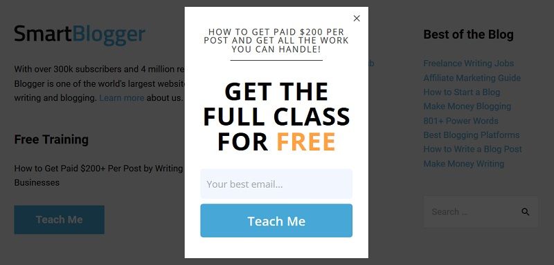 SmartBlogger - Teach me - Get the full class for free_