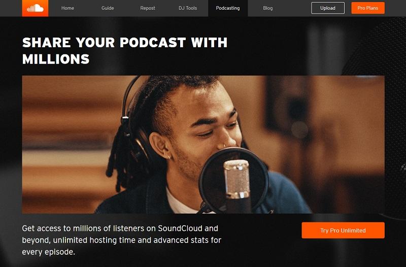 SoundCloud Free Podcast Hosting