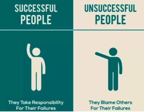 Successful people - unsuccessful people