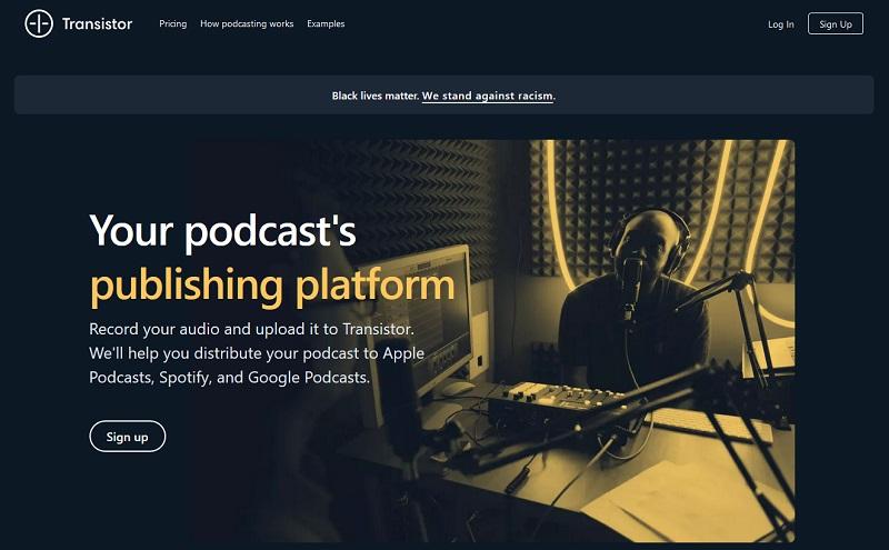 Transistor.fm Podcast Hosting Site