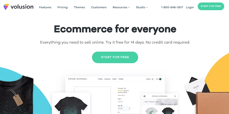 Volusion ecommerce platform with analytics