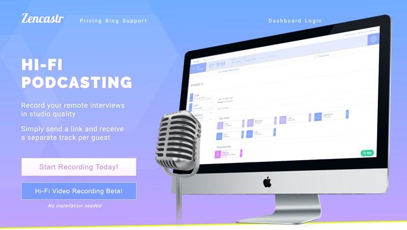 Zencastr podcast editing software