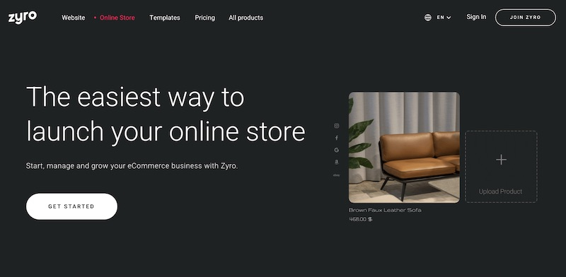 Zyro Cheapest Online Store