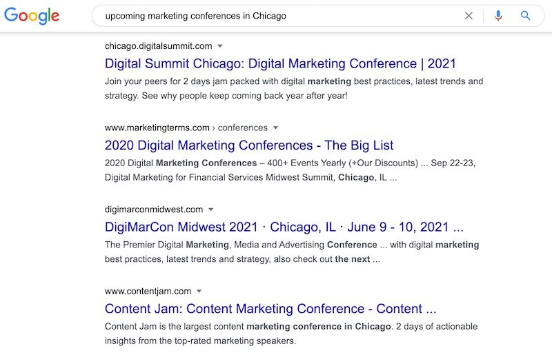 marketing conferences research