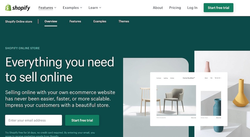 Shopify online shop software