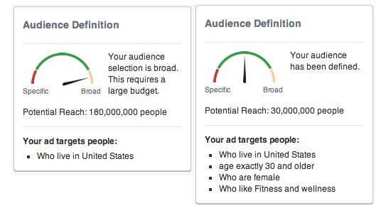 Audience definition - facebook ads
