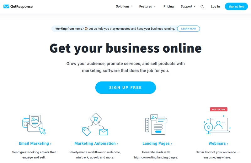 GetResponse - marketing funnel software
