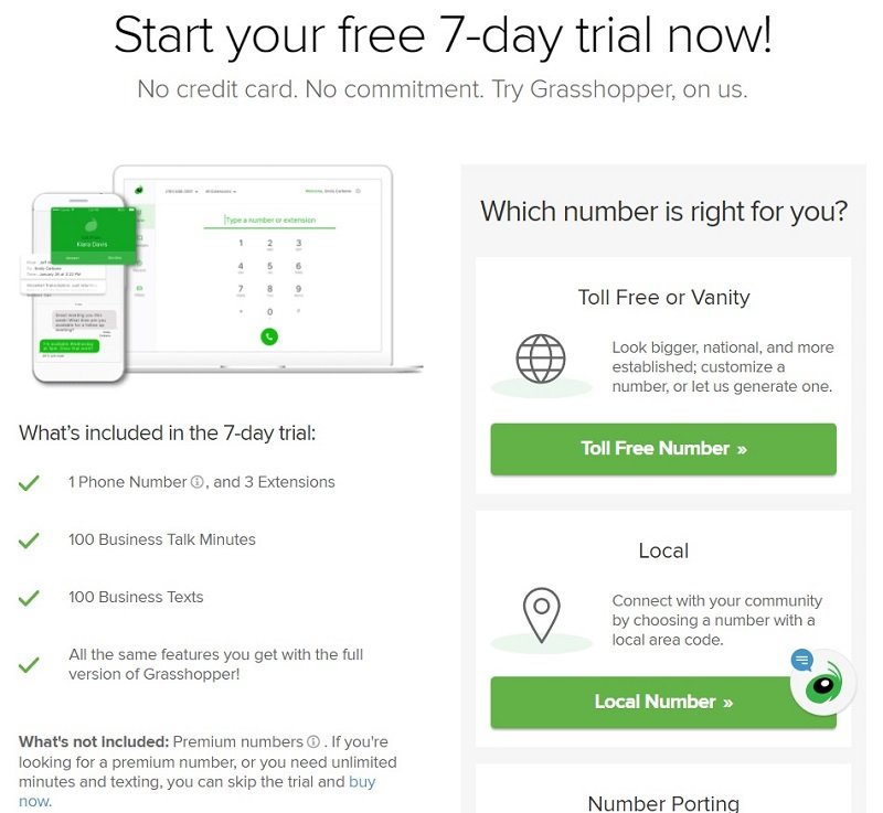 Grasshopper - Start your free 7-day trial now