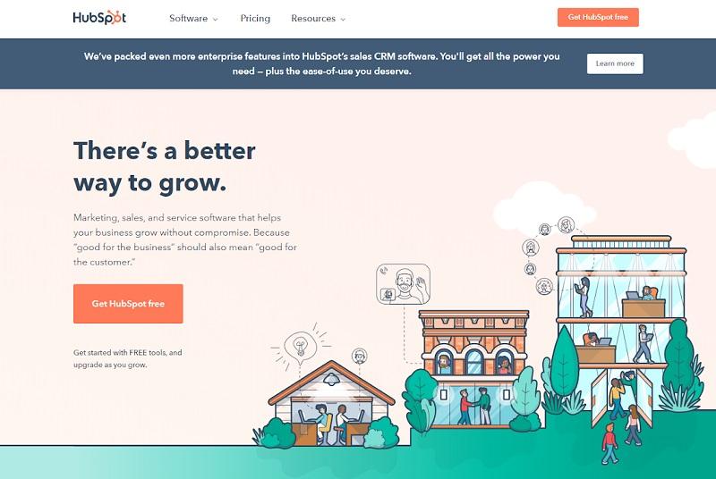 Hubspot - homepage