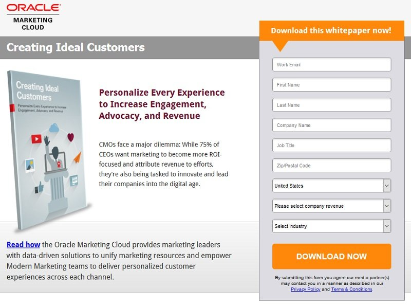 Oracle Marketing Cloud - Creating Ideal Customers