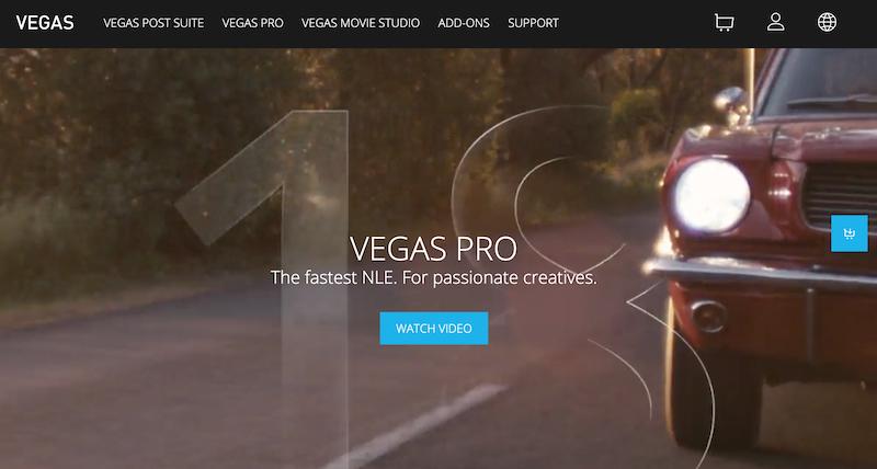 Sony Vegas Pro video editing suite