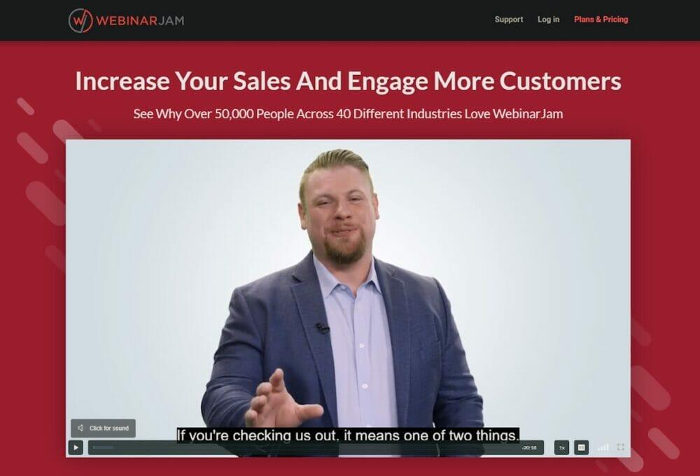 WebinarJam - webinar sales software