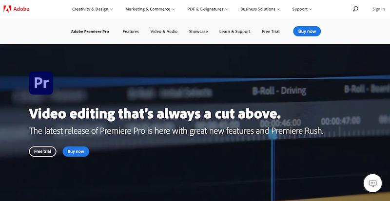 adobe premiere pro video editing software for windows
