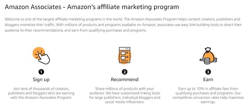 amazon affiliate program for YouTubers