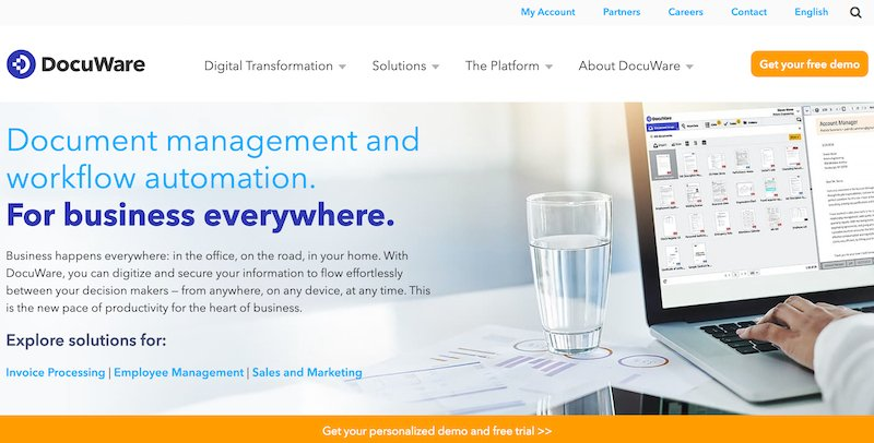 docuware leading document management software