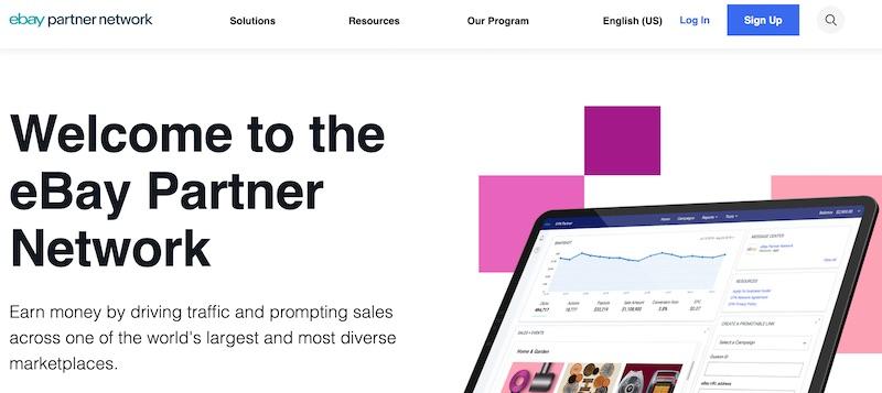 ebay partner network for making money on YouTube