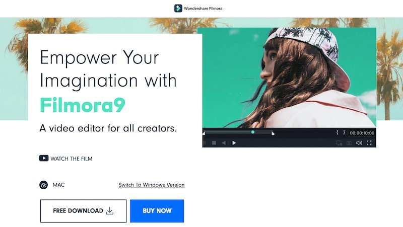 Filmora9 simple video editing for YouTube and social media