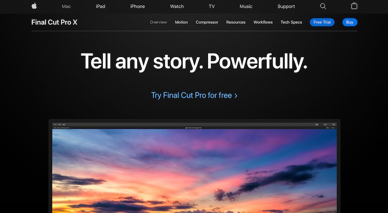 final cut pro x video editing software for mac