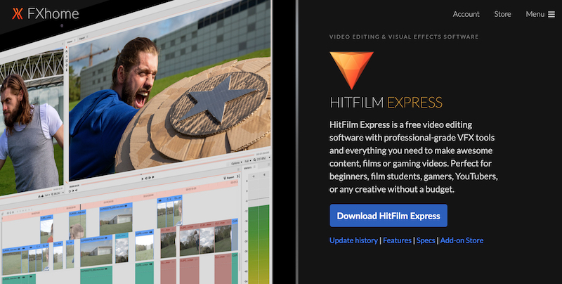 HitFilm Express editing visual and video effects