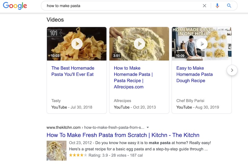 how to make pasta google search result