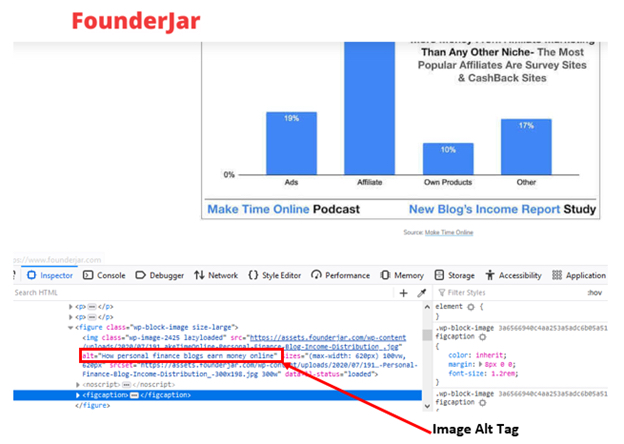 image alt tag example for FounderJar